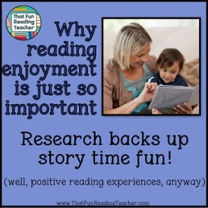 Why reading enjoyment is just so important TFRT