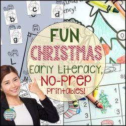 Christmas Early Literacy no-prep printables!