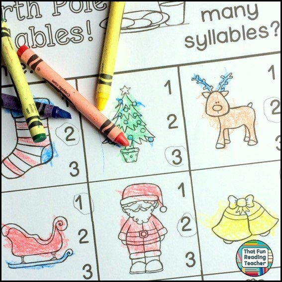 Every Read and Write and More set includes a syllables activity. More in a future post on the benefits of learning about and practicing syllables!