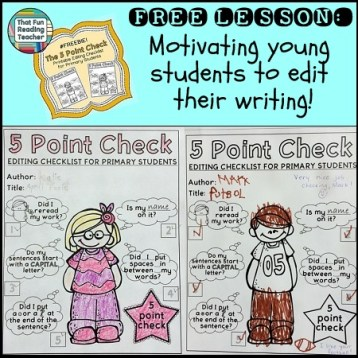 Motivating young students to edit their writing
