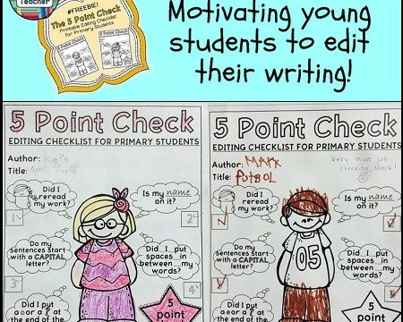 Motivating young students to edit their writing!