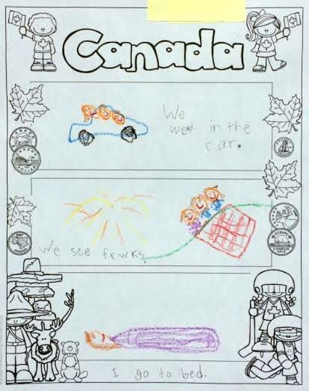 Graphic Organizer from Canada Read and Write and More