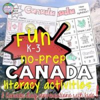 Fun, NoPrep Canada Literacy Activities & Canada Day conversations with kids!
