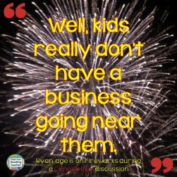 That Fun Reading Teacher's student - funny quote on Fireworks #kids say the #darndest things!