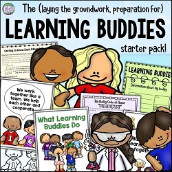 Thinking of doing Learning Buddies with your class? This Learning Buddies Starter pack contains organizational pieces to get started! $ #tpt #tptresources #learningbuddies #education #teaching #thatfunreadingteacher