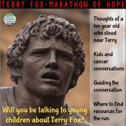 Talking to young children about Terry Fox and cancer
