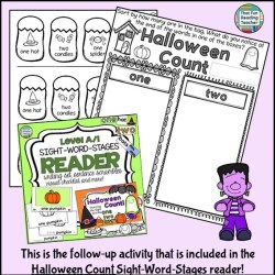 Halloween Count Sight-Word and Sorting Activity