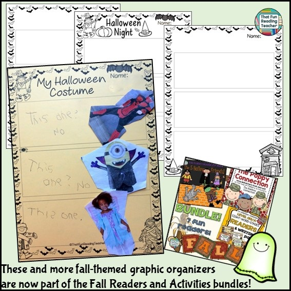 Halloween graphic organizers included in Fall Readers and Activities Bundles