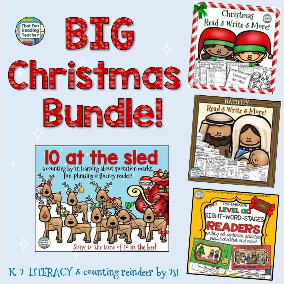 BIG Christmas Literacy Bundle K-3 $