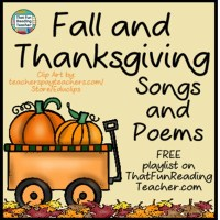 Fall and Thanksgiving Songs and Poems - FREE playlist!
