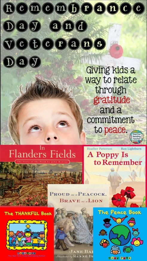 Remembrance Day and Veterans Day - A way for kids to relate through gratitude and a committment to peace