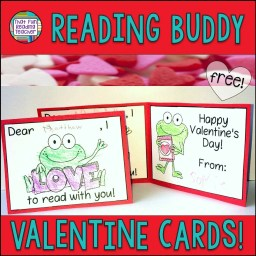 My students loved coloring these fun Valentine cards for their reading buddies!   Free from ThatFunReadingTeacher