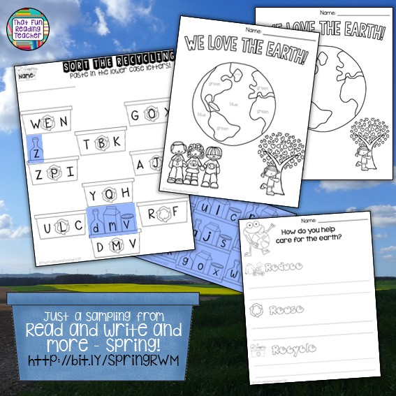 Earth Day writing activities from RWM - Spring $