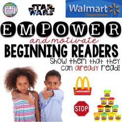 Empower beginning readers – show them they can already read!