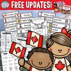 FREE updates for previously purchased Canada literacy products! #Canada150 $