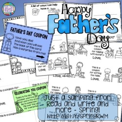 Father's Day items included in Spring Read and Write and More! #tpt #teacherspayteachers #FathersDay