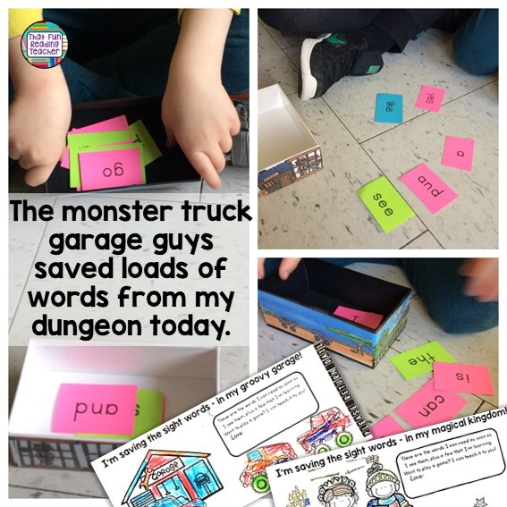 Save the Sight Words from the dungeon! Add fun themes to Smart phone boxes! $