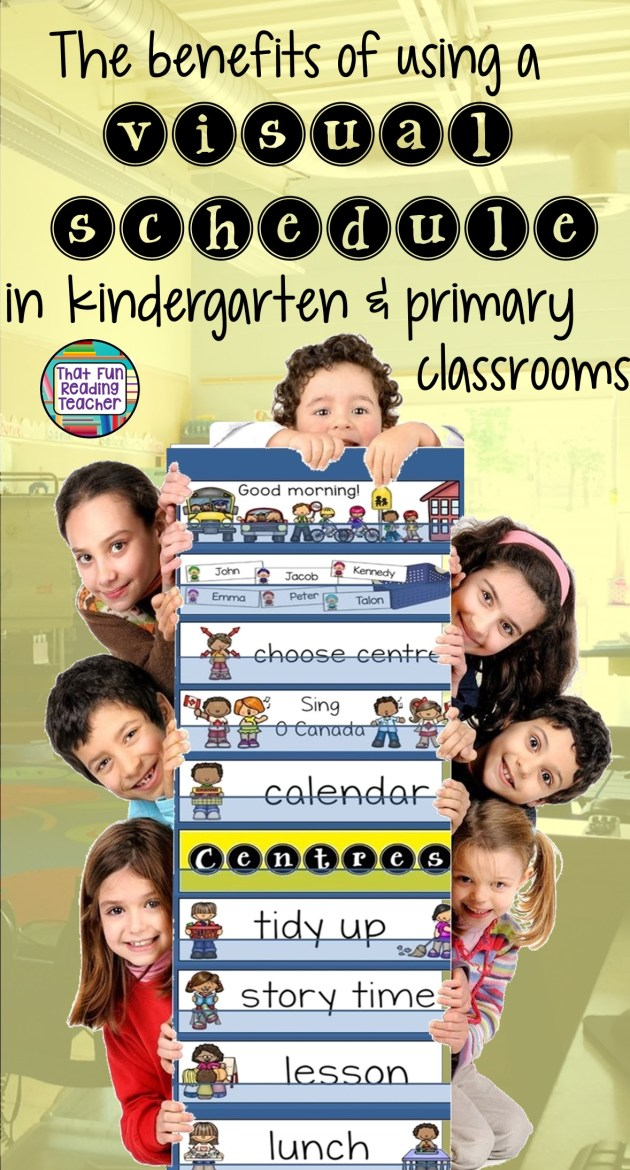 In my role as a special education teacher, I've been seeing more and more visual schedules being used for entire classes in the past few years, and they have a positive impact on student confidence, self-regulation, independence, classroom management, literacy and math skills! Come in, I'll explain...