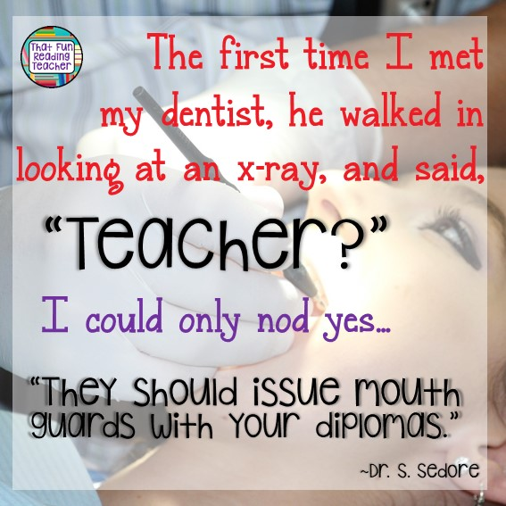 The first time I met my dentist | That Fun Reading Teacher