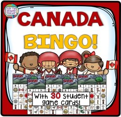 My students love learning about Canadian symbols and reviewing vocabulary by playing BINGO! Latest game update now includes 30 player cards! $