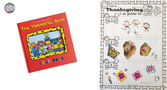 The Thankful Book by Todd Parr is a great gratitude model for kids | That Fun Reading Teacher