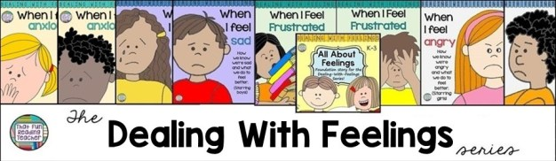 Dealing With Feelings Storybook lessons: Relatable characters model how they identify, accept and manage tricky feelings! Printable color and line-art, gender specific, growing series!
