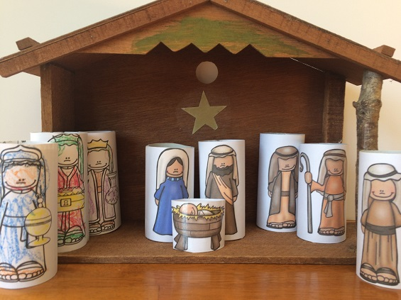 The images used for these figures are a part of my Big Christmas Bundle on TpT! $ #Nativity #Christmas #earlyliteracy