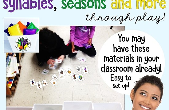 Fun activities for sorting syllables, seasons and more – through play!
