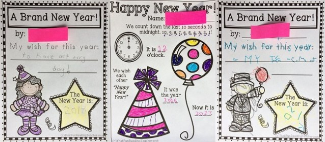 Fun New Year Activities for K-2 students in Read and Write and More for Winter! $ #RWM #education #earlyliteracy #newyear #iteach #iteachprimary