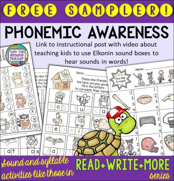 Fun, free phonemic awareness sampler!