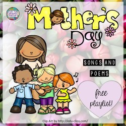 Free playlist: Songs and poems for Mother's Day! | That Fun Reading Teacher.com #songs #poems #MothersDay #kindergarten