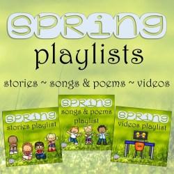 Free Spring Literacy playlists | That Fun Reading Teacher.com #kindergarten #1stgrade #earlyliteracy #teaching #spring
