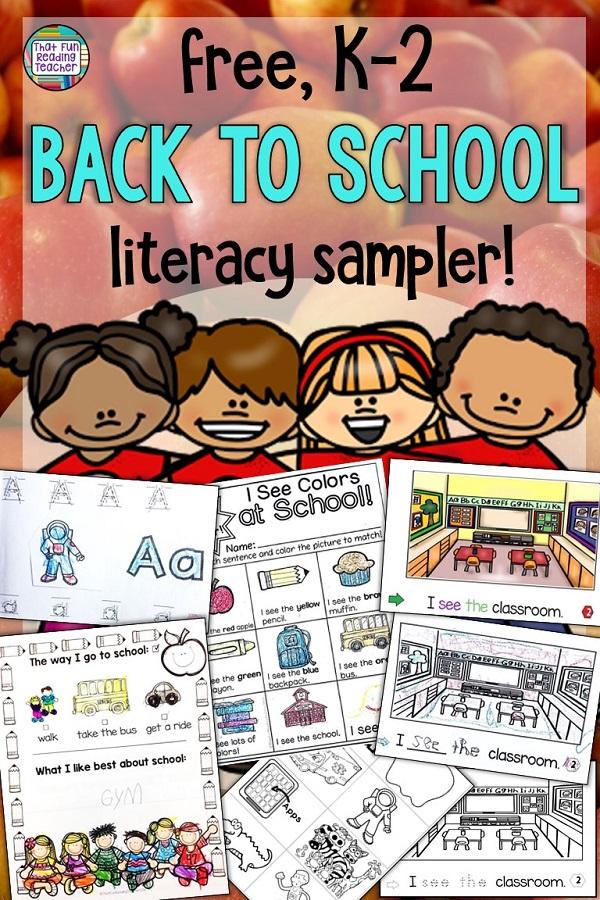 Free Back to School Literacy Sampler K-2! #bts #kindergarten #primary #tpt #teaching