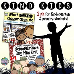 Teach primary and kindergarten students do what kind kids do! | Kindness resource with stories, visuals and song $ #BTS #BTSReadyWithTpT #teaching #kindness #RemembranceDay