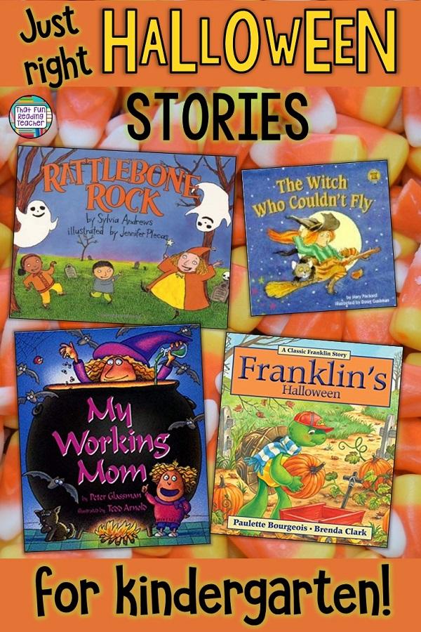 Halloween stories to read to kindergarten students! #halloween #stories #kindergarten #kidlit #childrensbooks #readaloud #teaching #earlylearning #earlyliteracy