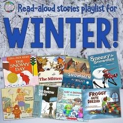 Winter Read-Aloud Stories playlist - free! #winter #stories #kindergarten #grade1 #1stgrade #listeningcenter #listeningcentre