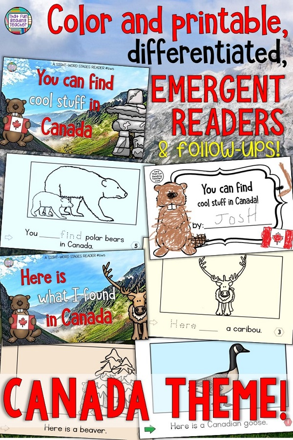 Canada Emergent Sight-Word Readers and follow up activities - Keep color copies for your classroom and differentiate for your students by printing! $ #earlyliteracy #reading #tpt #teacherspayteachers #canadianteachingresources