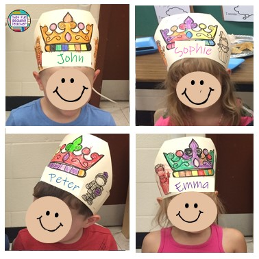 Tip for learning your students' names quickly - visuals! I took photos of my students wearing these name crowns with their names literally across their foreheads, and made myself a cheat sheet! Click through for more details! $ #kindergarten #earlylearning #backtoschool #tpt #thatfunreadingteacher