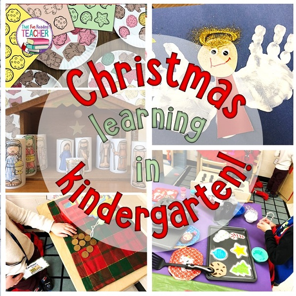 Christmas learning through play in in kindergarten!