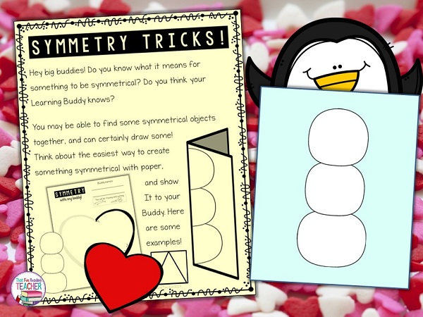 Winter and Valentine symmetry activities for Learning Buddies