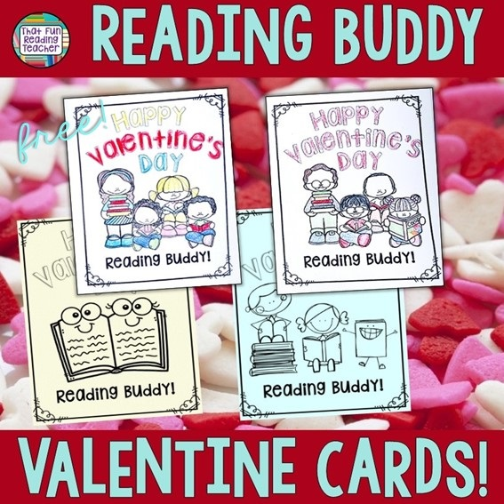 Free Reading Buddy Valentine Cards