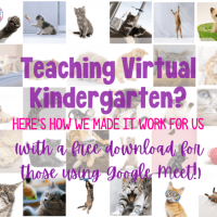 Management tips for teaching virtual kindergarten!