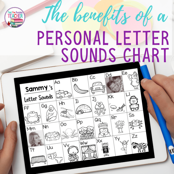 The benefits of a personal letter sounds chart for early readers and writers. #kindergarten #1stgrade #earlyliteracy #earlylearning #ThatFunReadingTeacher