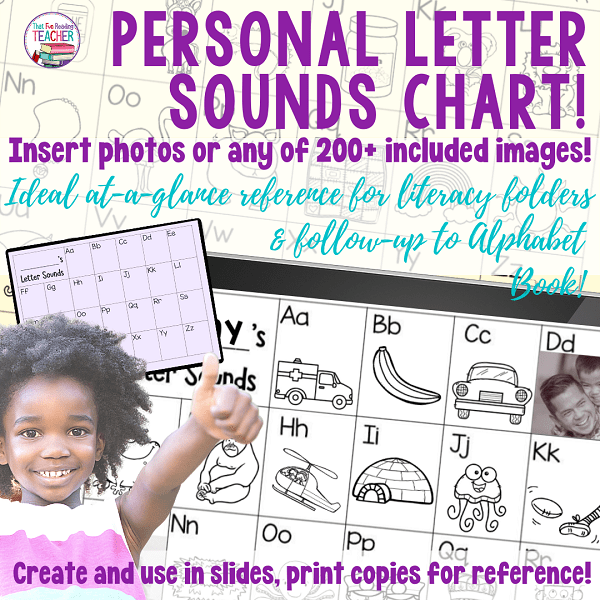 Personal Letter Sounds Chart