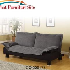 Coaster Futon Sofa Bed With Removable Armrests Review Fabric Change Beds Casual Convertible By Furniture Austin