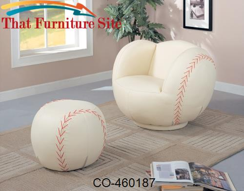 kids sports chairs plastic large baseball chair and ottoman by coaster fu