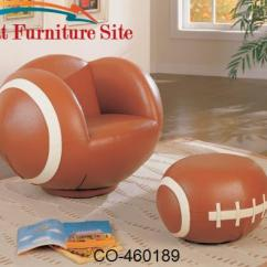 Kids Sports Chairs Chevron High Chair Large Football And Ottoman By Coaster Fu Furniture