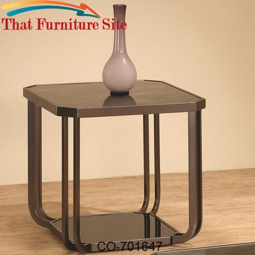 701640 end table with marble like top by coaster furniture austin