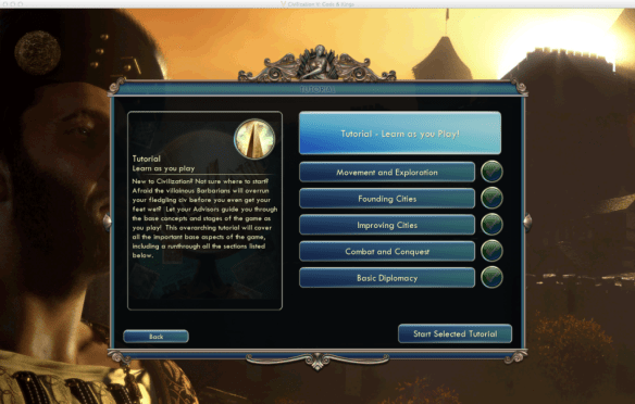 civv-tutorial main screen