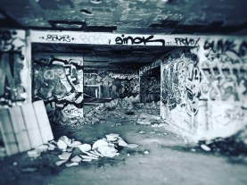 Inside an abandoned building, now space for creativity and other purposes...